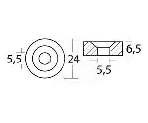 Zinc Washer Anode for MERCURY MARINER MERCRUISER 823913 YAMAHA ∅ 24x6,5 mm #N80607030601