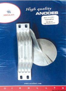 Kit 2 Pezzi Anodi di Zinco 6G54525101/02 69L4537100 Fuoribordo YAMAHA MARINER 200 - 300 Hp High Performance #OS4335312