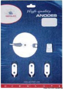 Kit 5 Pezzi Anodi di Zinco YAMAHA 40 - 60 Hp #OS4335402