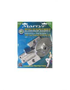 MERCURY F30 - F40 - F60 Kit Zinc Anodes 4 Pieces #N80607030633