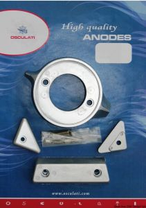 VOLVO 290 Kit Zinc Anodes 4 Pieces Interchangeables with the Original ones #OS4334300