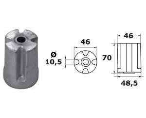 VOLVO IPS Cylinder Zinc Anode 3593881 #OS4351200