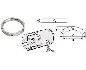 Anodo di Zinco a Collare per Elica Piede 3584442 VOLVO Sail Drive - Folding Prop #OS4353501