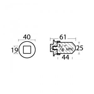 Anodo di Zinco a Barilotto per Scambiatori di Calore e Collettori 823661 VOLVO ∅ 25X44 mm #OS4354016