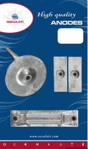 Kit 4 Pezzi Anodi di Zinco Fuoribordo HONDA 40 - 50 Hp #OS4329165