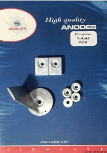 SUZUKI 40 - 50 Hp Kit Zinc Anodes 7 Pieces #N80607730640