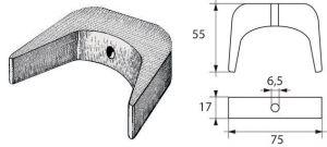 SELVA 40 - 60 Hp U Shape Zinc Anode 2504020 #N80608130854