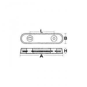 Anodo di Zinco a Piastra Tipo VETUS 2,70 Kg #OS4390211
