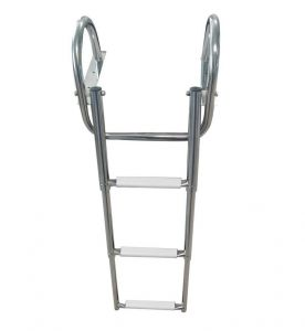 Stainless steel Gangplank telescopic ladder 3 Steps D.889x360mm #OS4954603