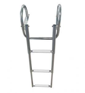 Stainless steel Gangplank telescopic ladder 4 Steps D.1156x375mm #OS4954604