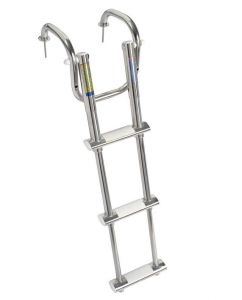 Stainless steel Telescopic ladder with handles 3 Steps L820mm #OS4955603