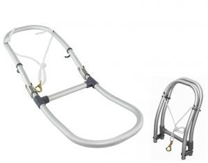 Scaletta in alluminio con 2 gradini per gommoni 250x900mm #OS4953301