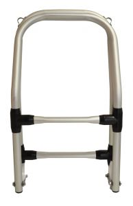 Anodised aluminium Folding ladder for inflatable boats 25x115cm #OS4953302