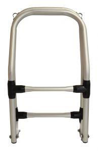 Scaletta pieghevole in alluminio con 3 gradini per gommoni 25x115cm #OS4953302
