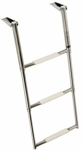 Stainless steel over platform telescopic ladders 3 Steps 89x39cm #OS4954003