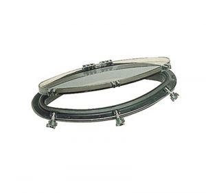 BOMAR elliptic porthole 146x415mm Black #OS1951500N