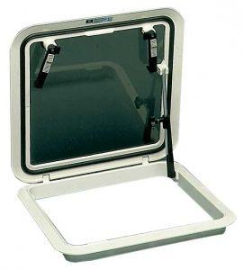 BOMAR deck hatch 570x570mm White #OS1999510BI