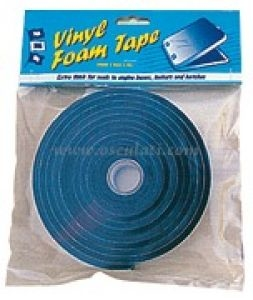 Adhesive vinyl foam tape for for engine boxes, lockers, hatches, portholes etc. - 6x25mm #OS1911401