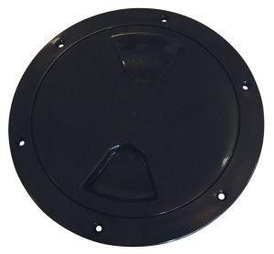 Screw-on inspection hatch D.170mm Black #N30211202030