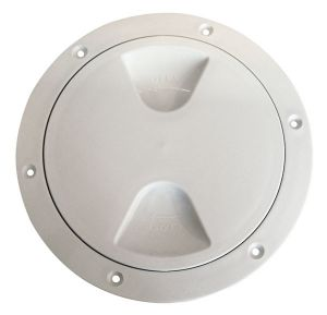 Screw-on inspection hatch watertight with O-ring seal Ø170mm White #N30211202031