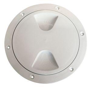 Tappo d'ispezione in polipropilene con chiusura a vite Ø170mm Bianco #N30211202031