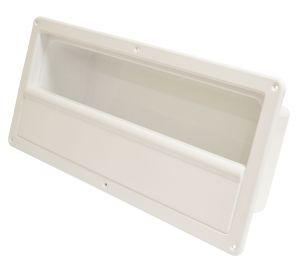 Tasca laterale porta-oggetti in ABS bianco 540x244mm rigido P.120mm #OS2002500