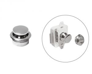 Knobs in Chromed brass for thickness up to Ø23mm #OS3818100