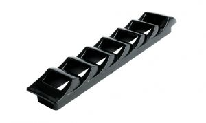 Side louvre air vent in Black ABS 415x83mm #OS5340650
