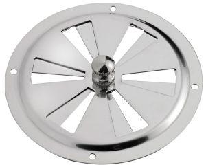 Aeratore Circolare Inox Ø102mm con chiusura a rotazione #N30511702012