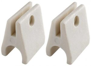 Pair of White nylon support plates for 22m-tubes D.22mm #OS4610710