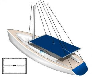 Tessilmare waterproof fabric Awning for sail boats white 255x240 #OS4689801