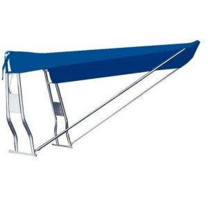 Telescopic Awning for Stainless steel Roll-Bar Tube 130x170x145cm Navy Blue for Stern #OS4690633