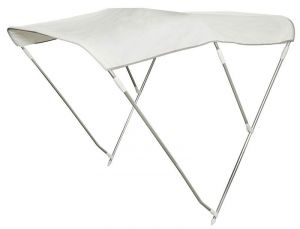 High Folding 3 Bow Bimini D.180cm H.145cm W.160/170cm White #OS4690941