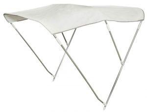 White Folding 3-Arc Bimini 185/195xH185cm Depth 180cm #OS4690942