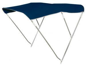 Tendalino Pieghevole 3 Archi Alto P.180cm H.145cm L.200/210cm Blu Navy #OS4690953