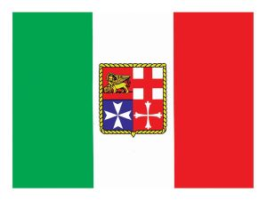 Italian flag sticker for boats 15x22cm #N30112603782