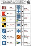 Tabella Adesiva Segnali del codice internazionale usati in Regate 16x24cm #OS3545298