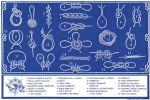 Nautical knots sticker 16x24cm #OS3545291