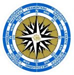 Compass-rose/Rose of the Winds sticker D.15cm #N31812621815