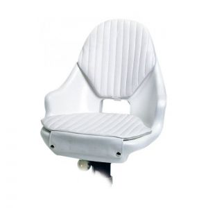 Pilot Swivel bucket seat in polyethylene with removable cushions 52x42xh47cm #OS4868008