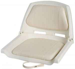 White Polyethylene Seat with Reclining Backrest Seat 500x430mm #OS4840500