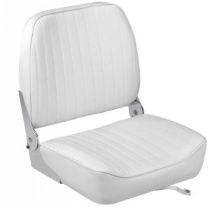 Seat with reclining backrest White vinyl cushion 395x467x474mm #OS4840401