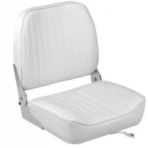 Sedile schienale ribaltabile in vinile bianco 395x467x474mm #OS4840401