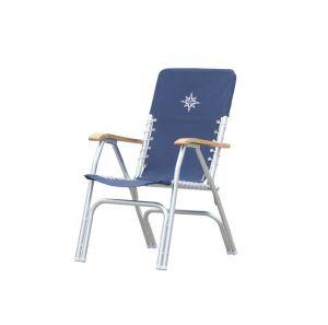 Sedia pieghevole in alluminio 58x71xH91/40 Colore blu #OS4835305