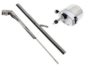 Stainless Steel Windscreen Wipers Fitted with Arm Blades 200-280mm #OS1915250