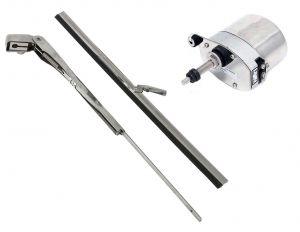 Tergicristallo Completo di Braccio Spazzole in Acciaio Inox 200-280mm #OS1915250