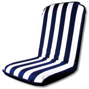 Comfort Seat stay-up cushion and chair White and Blue stripes 100x49x8mm #OS2480101