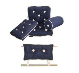Cuscino in Cotone Impermeabile Tipo con Schienale 430x750mm Blu #OS2443021