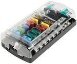 Polycarbonate fuse holder box 12 seats #OS1418312