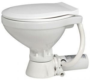 Italy Compact electric toilet with plastic seat 24V #OS5020724